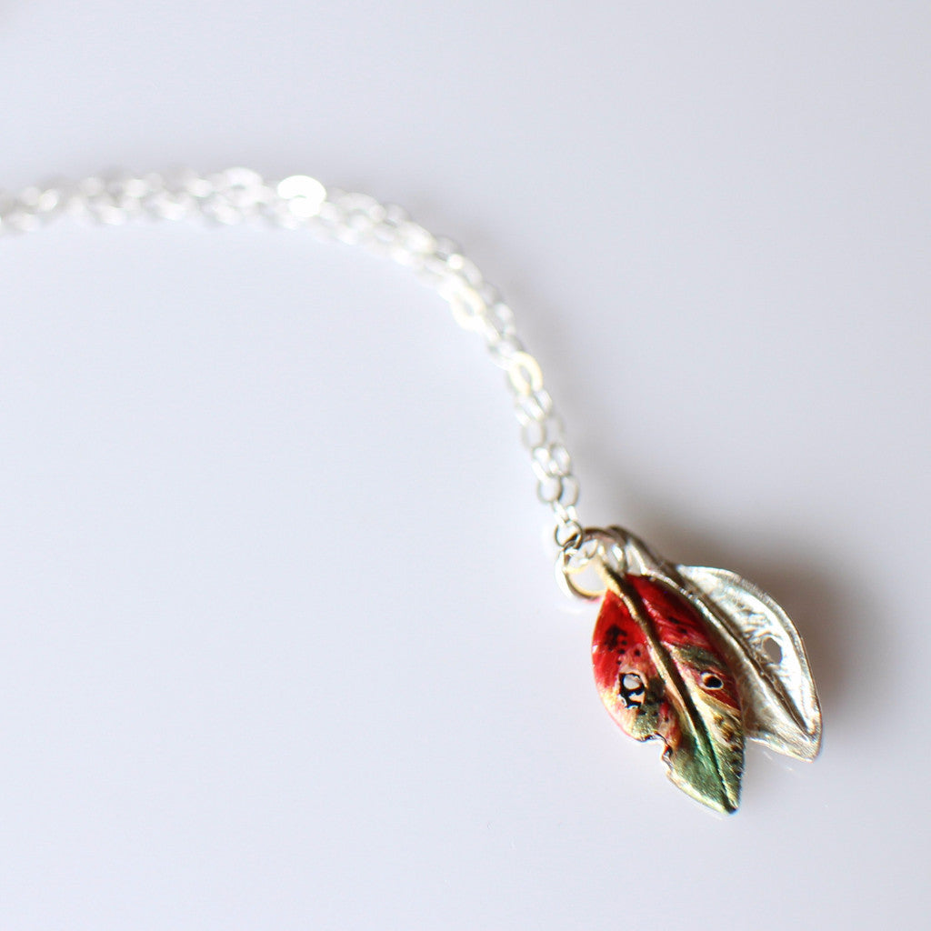 Pohutukawa leaf necklace