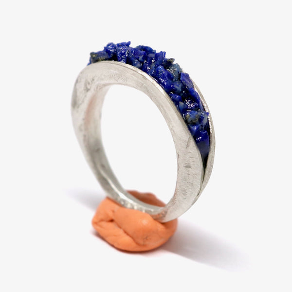 Clam lapis ring