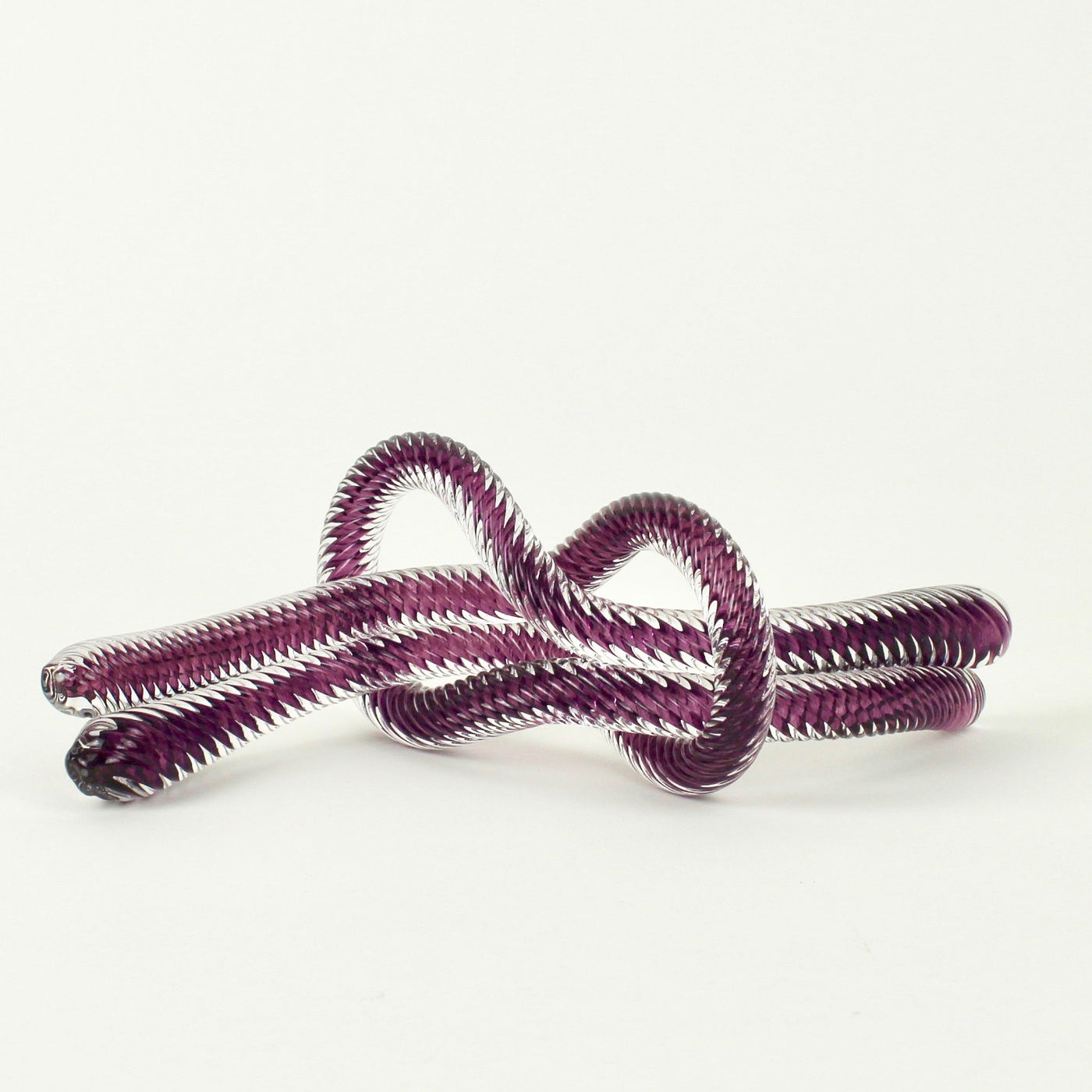 Glass knot - purple