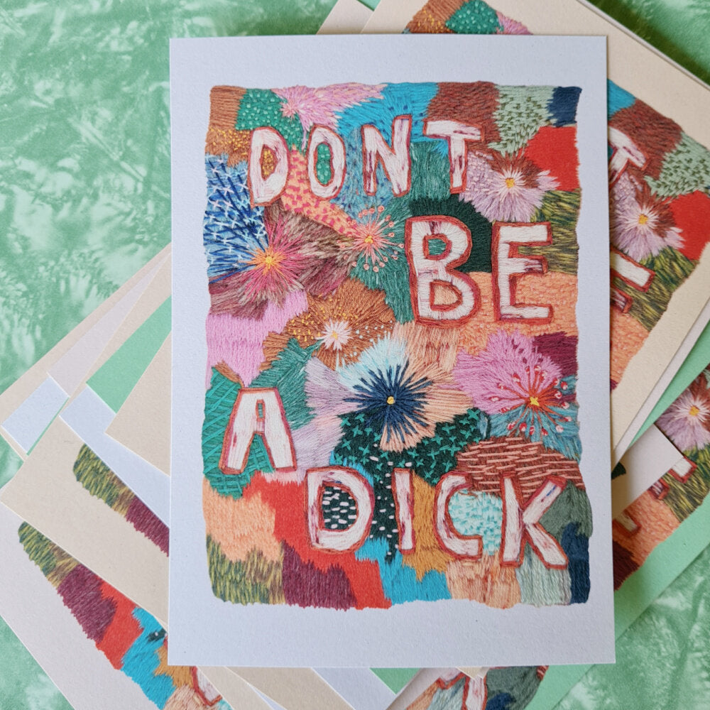 Don't Be A Dick postcard