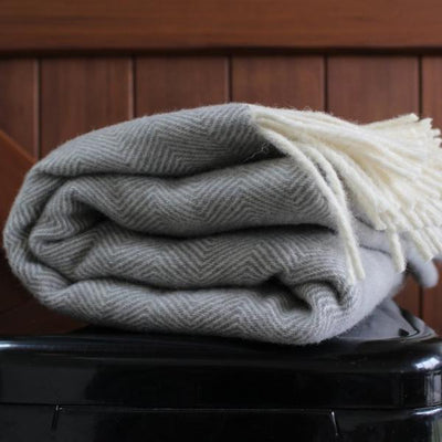 Soft Grey Wool Blanket