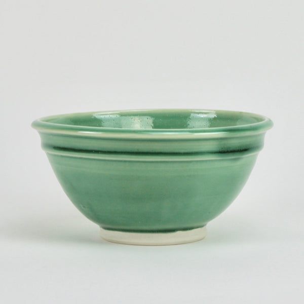 Green double lipped bowl