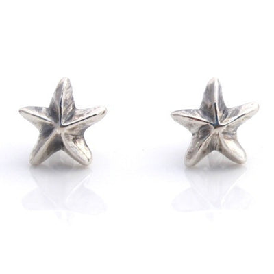 Silver mini starfish studs