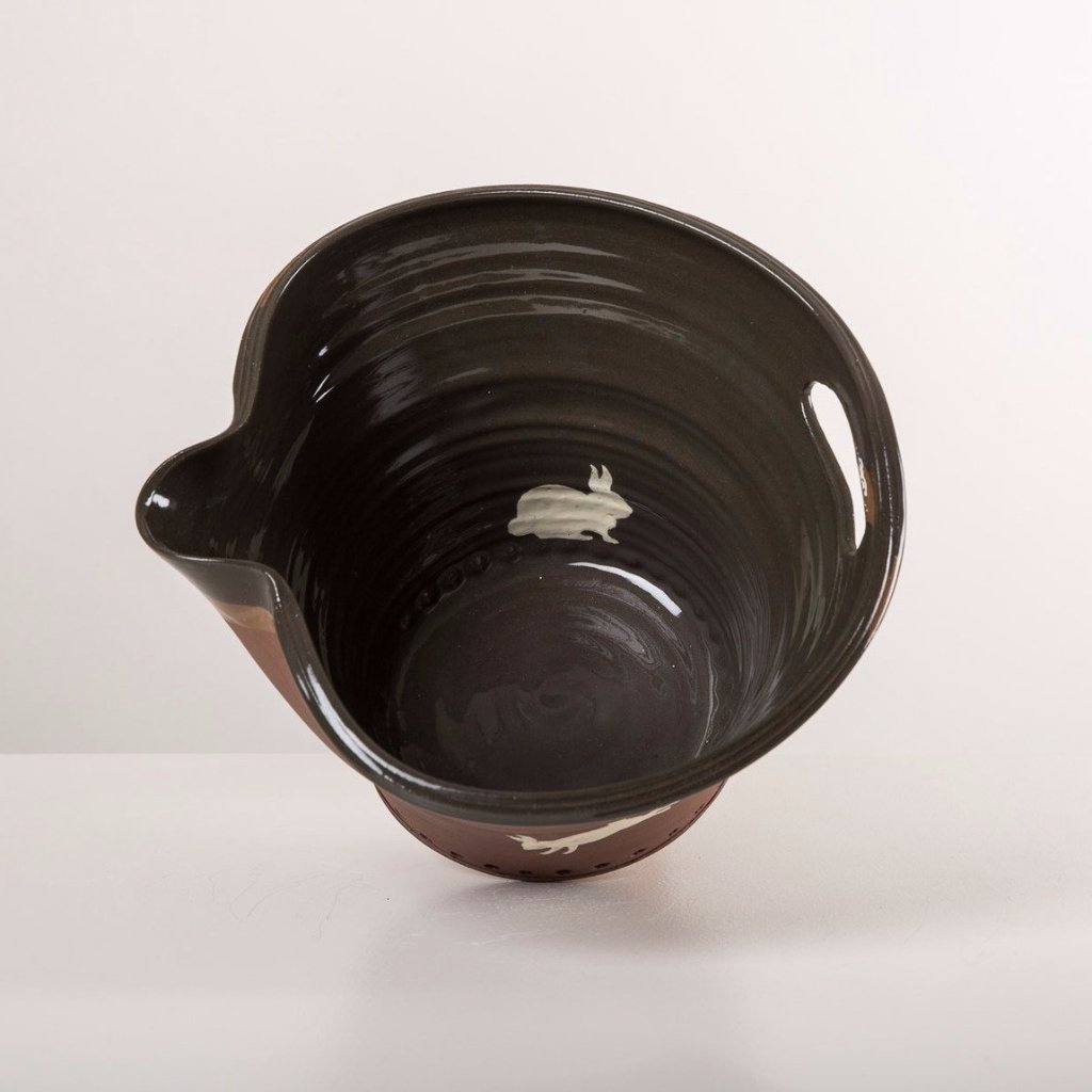 Large Black Pouring Bowl - bunny