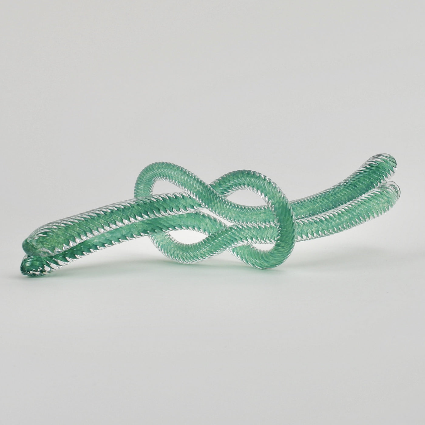 Glass knot - celadon