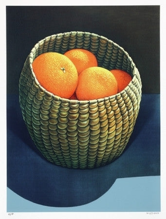 Oranges in Seagrass Basket