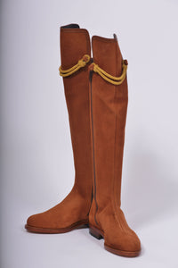 Hampton Low Heel Tan Suede Knee Boot
