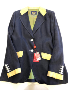 Navy Linen Jacket in a size 20/50