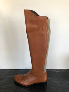 Tan Leather Boot in Size 4/37