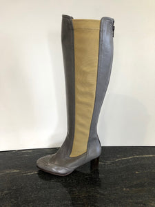 Grey Leather Boot in size 3/36