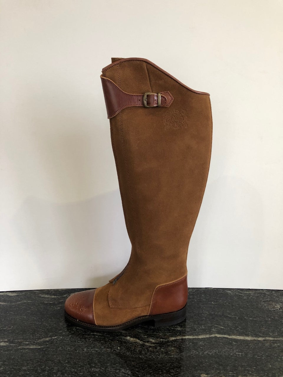 Spanish style suede and leather boot in Tan size 38/5.