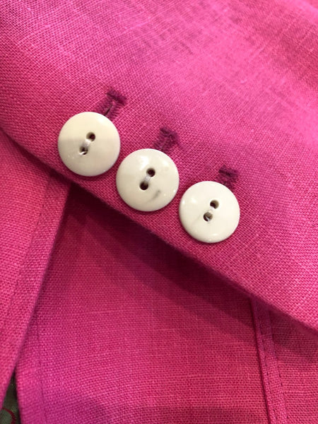Linen Jacket in Pink and Red.