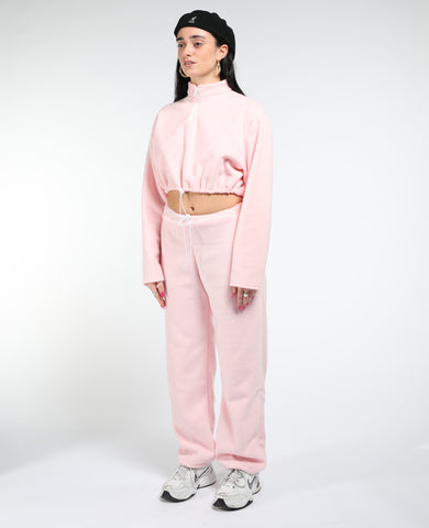 Bby pink fleece tracksuit
