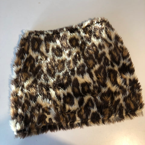 SALE LEOPARD SKIRT W SPLIT