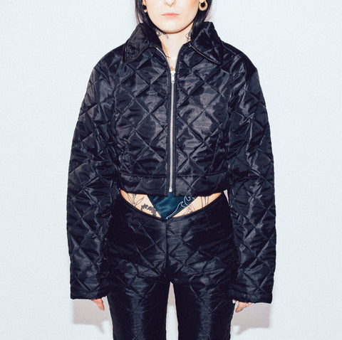 TIAR black quilted jacket