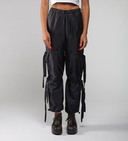 Nylon tassle pants