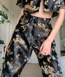 Dragon wide leg pants
