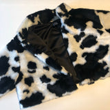 Cropped cow coat