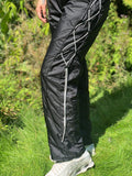 Nylon lace toggle trackies