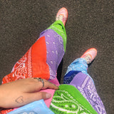 Paisley patchwork pants MULTI