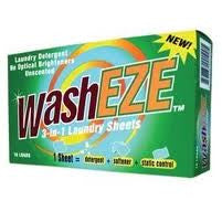 WashEZE Unscented Laundry Detergent Sheet that includes Fabric Softener and Static Guard (FREE SHIPPING)