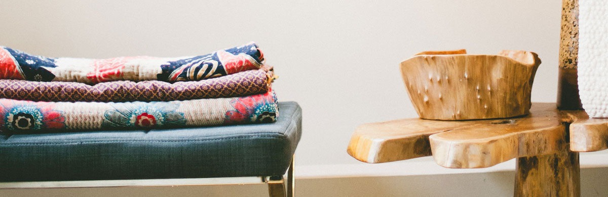 Classic Kantha Cotton Throws