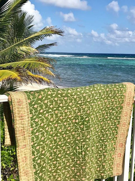 Kantha Throw on Vacation