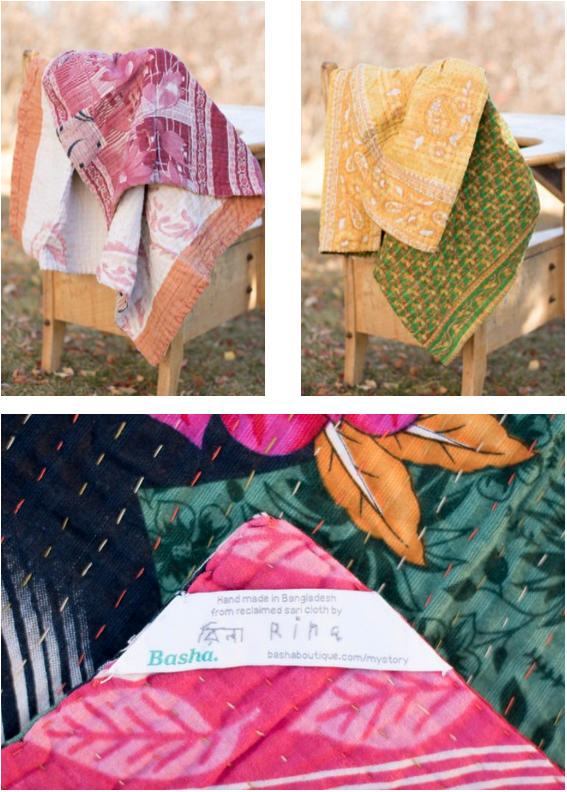 Kantha Mini Blankets at dignify