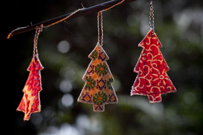 Kantha Stitched Tree Ornament - dignify  - 3