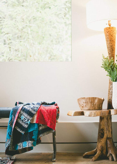 Astounding Kantha Throw