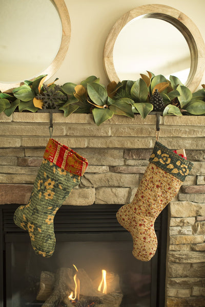 Kantha Holiday Stocking G8