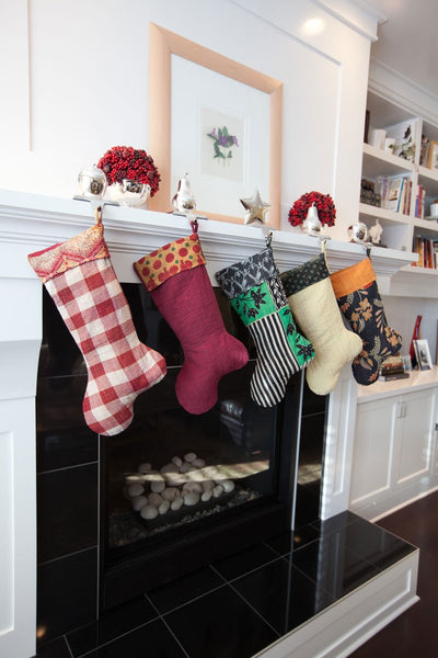 Kantha Holiday Stocking M9