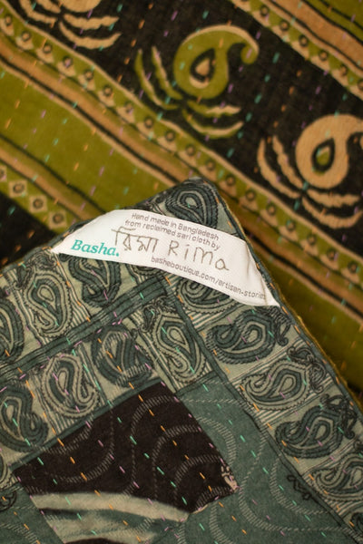 Generosity No. 19 Kantha Large Throw