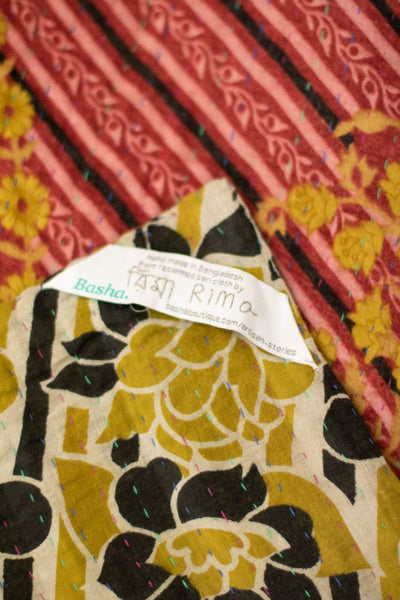 Generosity No. 7 Kantha Large Throw