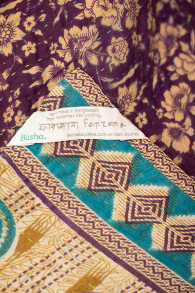Generosity No. 10 Kantha Large Throw