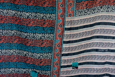 Journey No. 3 Kantha Large Throw