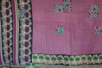 Steady No. 9 Kantha Large Throw
