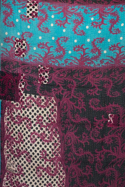 Pretty Kantha Throw