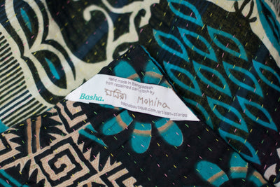 Shine Kantha Throw