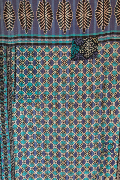 Striking Kantha Throw
