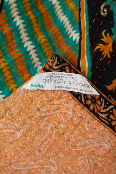 Cool Kantha Throw