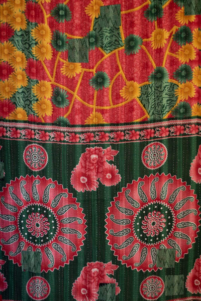 Fruitful Kantha Throw