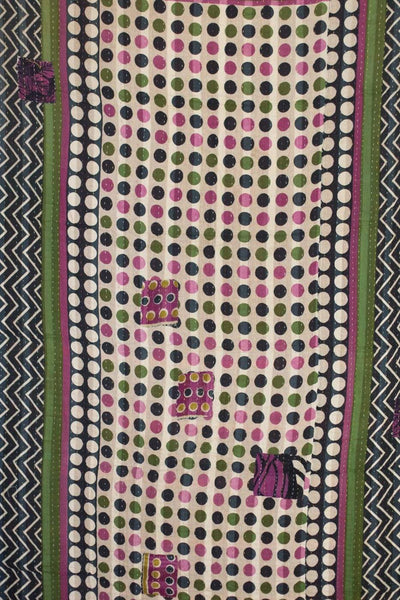 Structure Kantha Throw