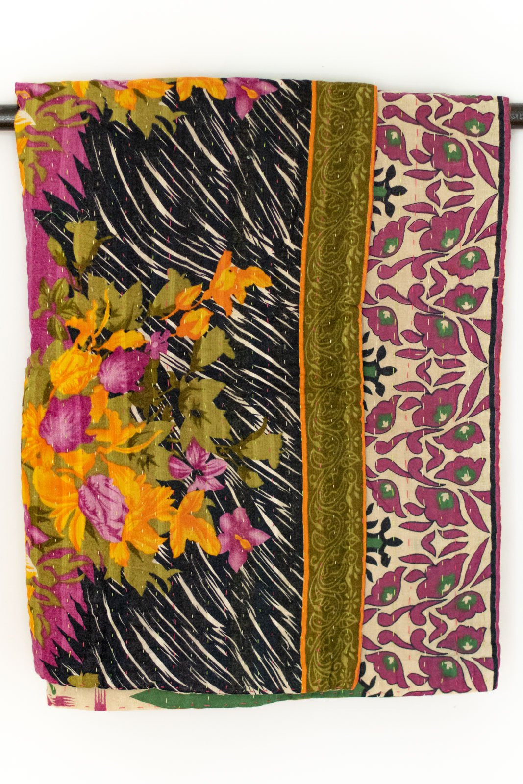 Collect Kantha Throw
