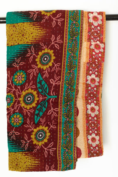Kantha Throw Quilt