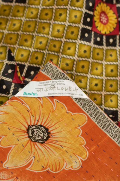 Love Kantha Throw