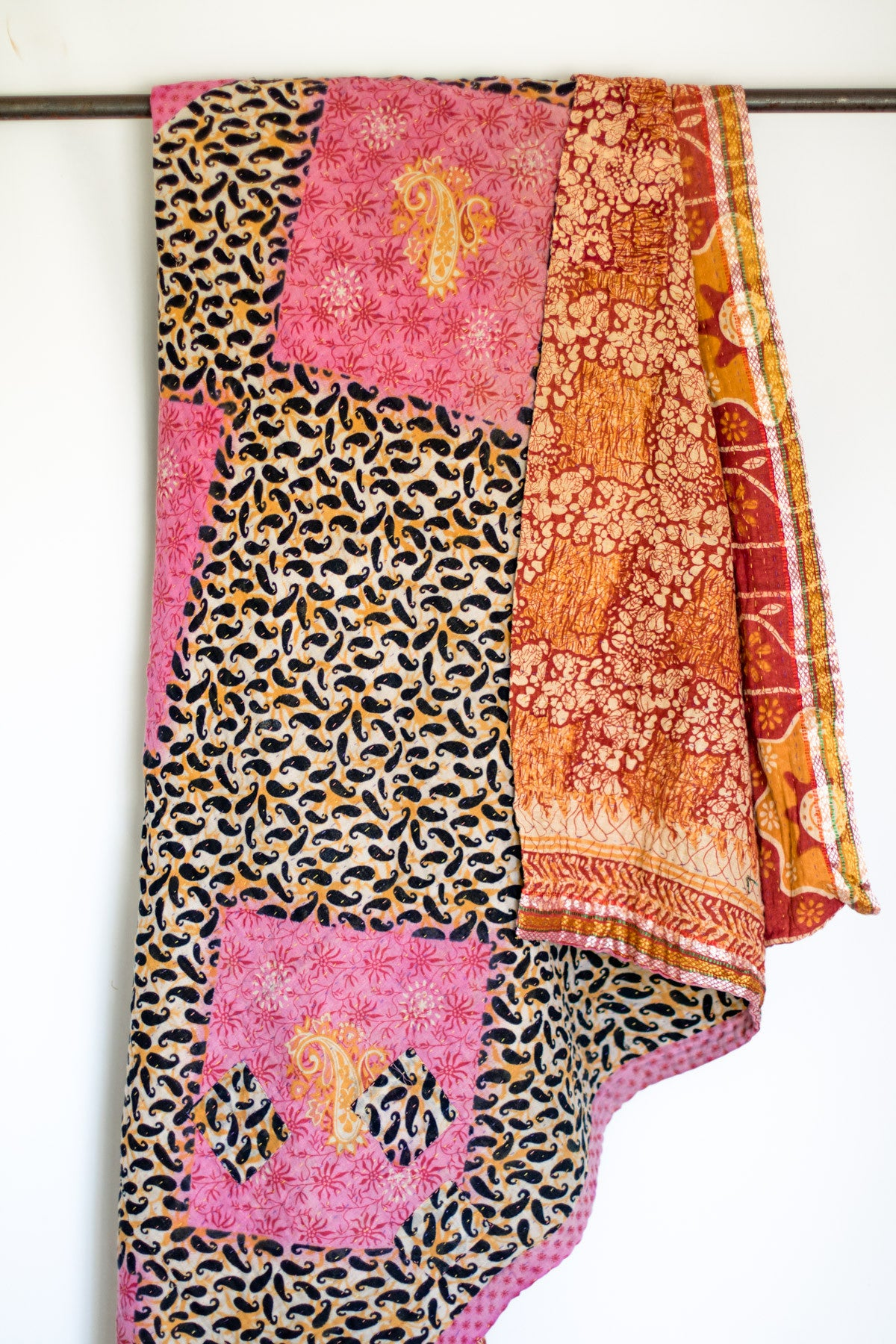 kantha quilts throw blankets bedspreads  baby blankets  dignify -  kantha large throw  dignify