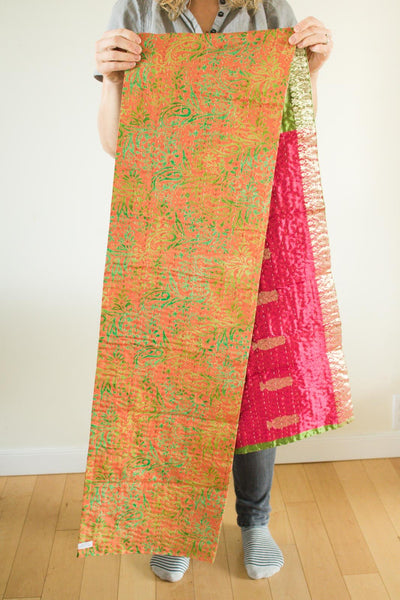 Kantha Table Runner Silk Blend G3