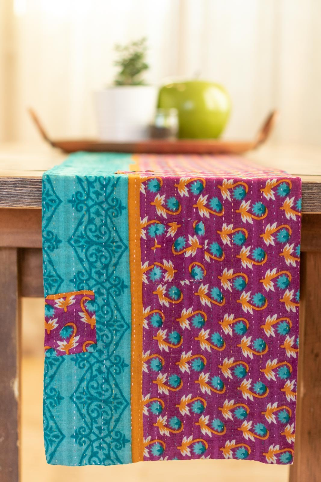 Kantha Table Runner Cotton C5