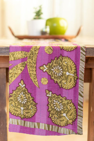 Kantha Table Runner Cotton E6